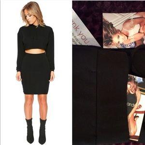 Naked Wardrobe Hoodie Set - Black - Size M
